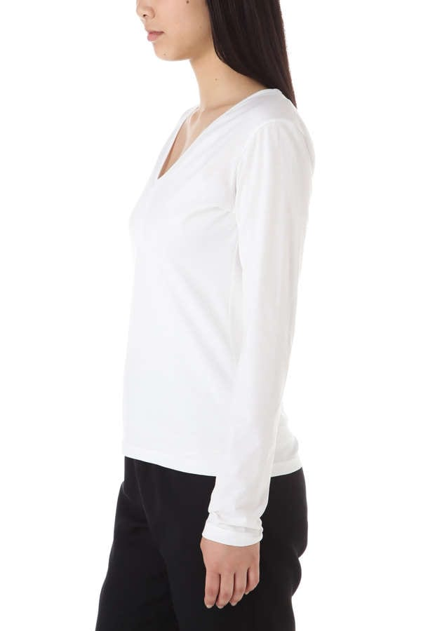 Women's Long-Staple Cotton Long Sleeve U-Neck T-Shirt