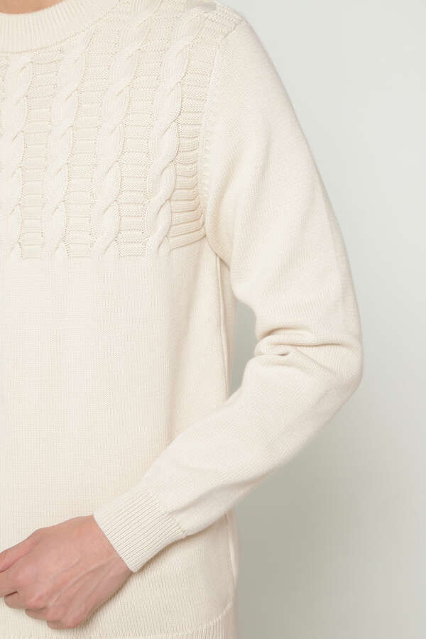MEN'S COTTON CABLE KNIT