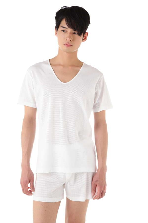 MEN'S Q14 CELLULAR V-NECK T-SHIRT
