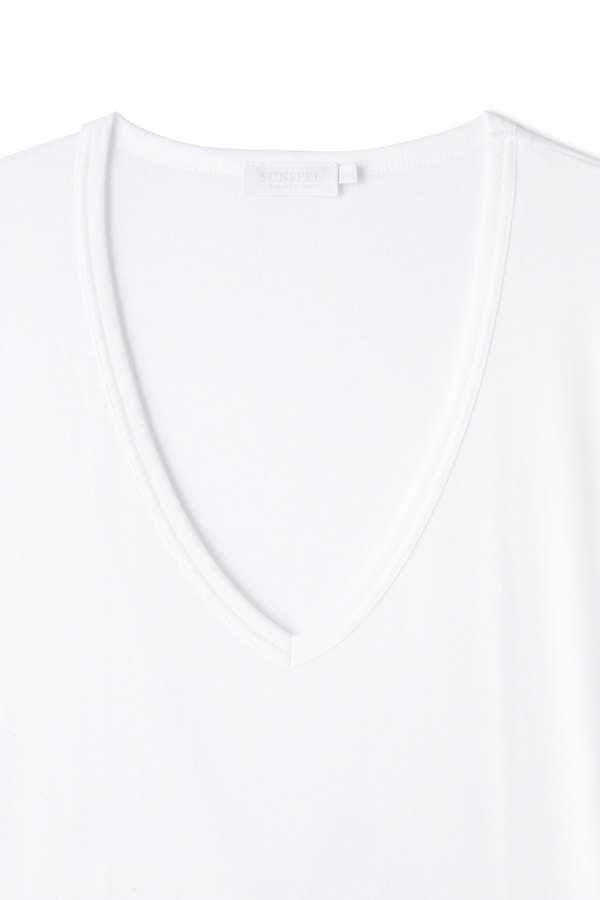 MEN'S SEA ISLAND COTTON LOW V-NECK T-SHIRT