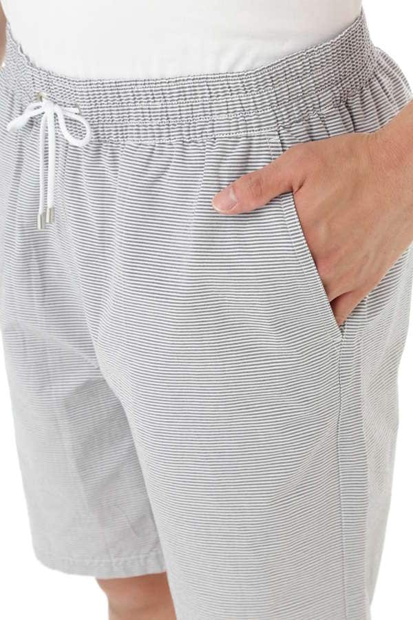 MEN'S LIGHTWEIGHT NYLON DRAWSTRING SWIM SHORT STRIPE