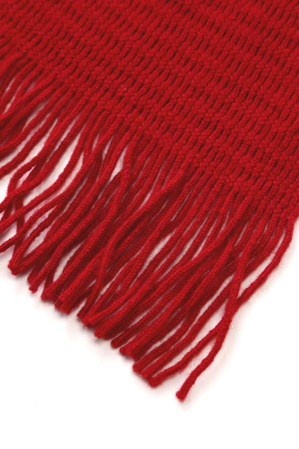 MEN'S CELLULAR KNIT SCARF