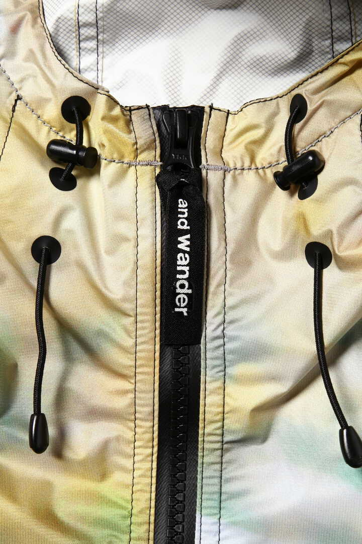 printed fly rain anorak hoodie