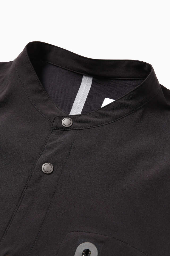 tech long sleeve band collar shirt