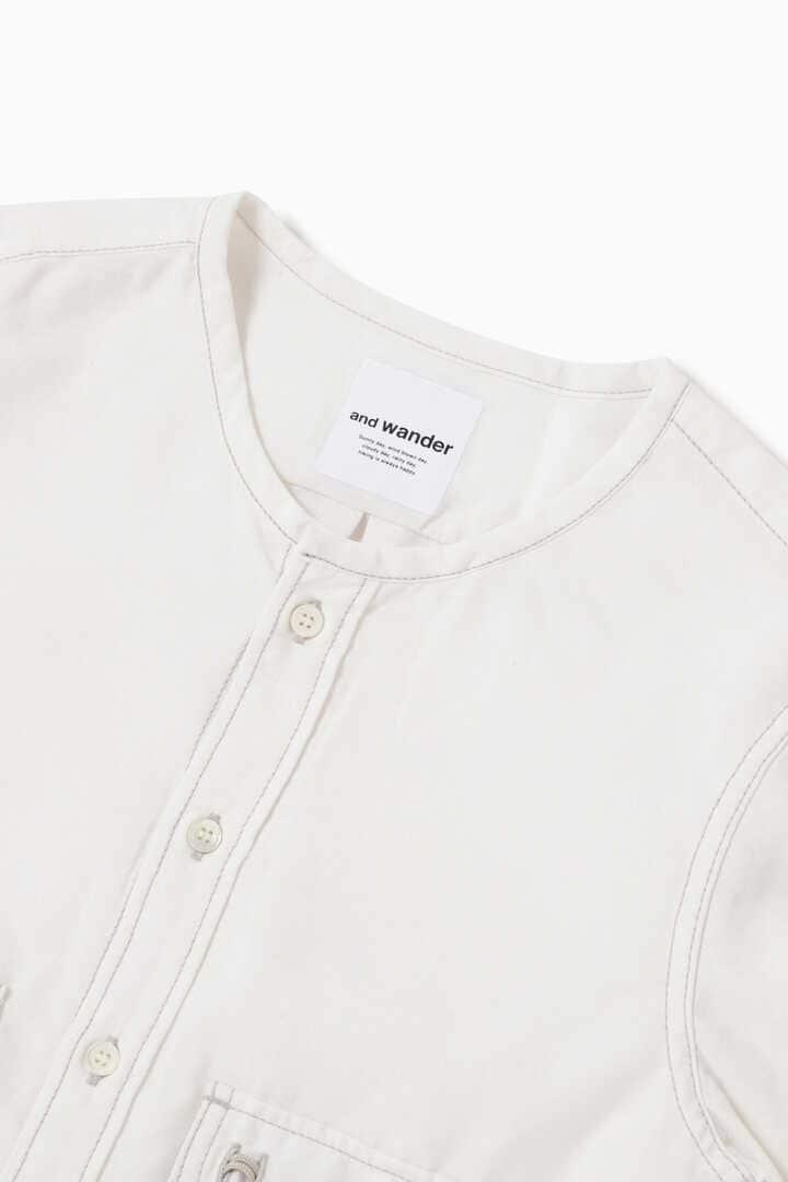 dry linen collarless shirt (W)