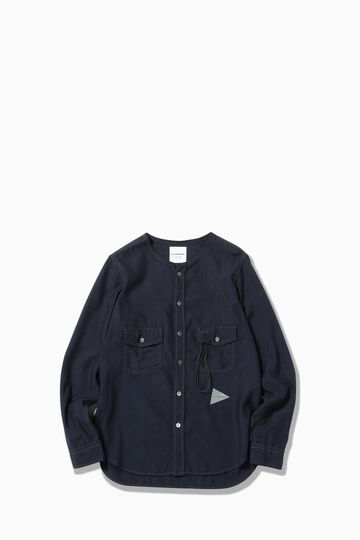 dry linen collarless shirt (W)