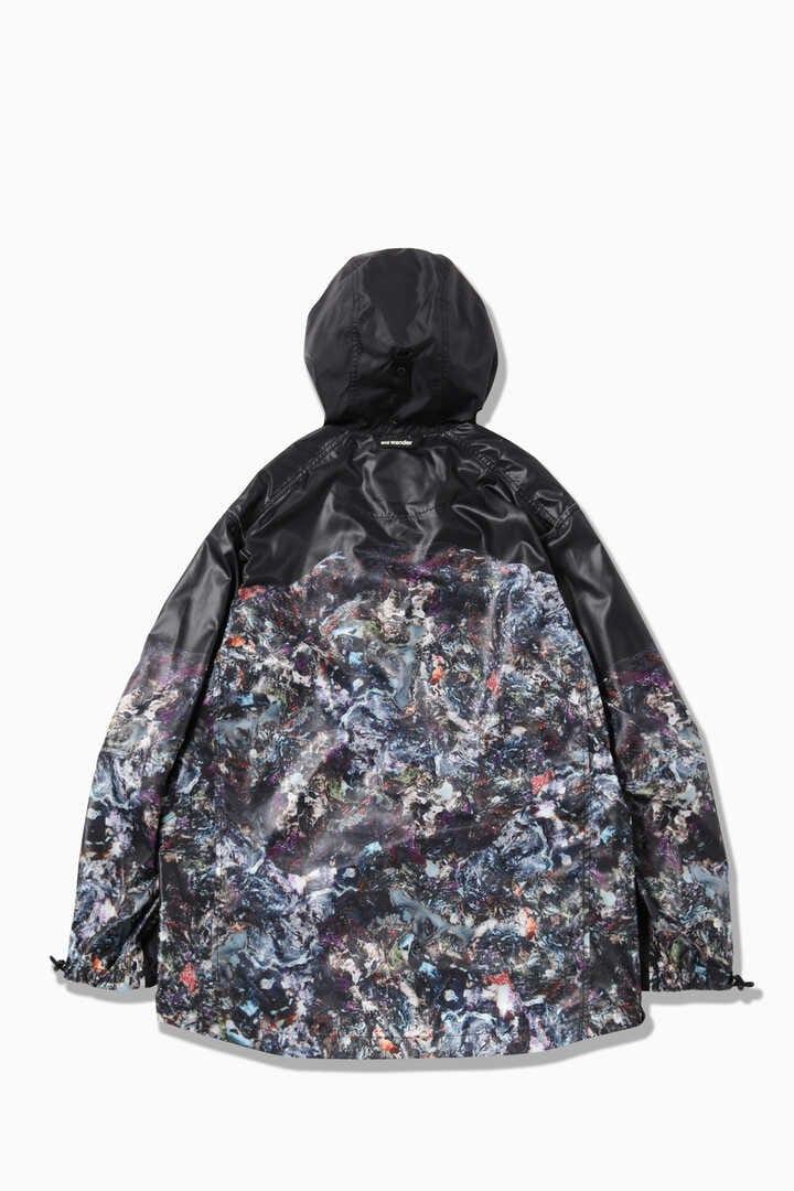 stone printed rip jacket