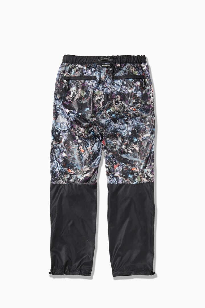 stone printed rip pants