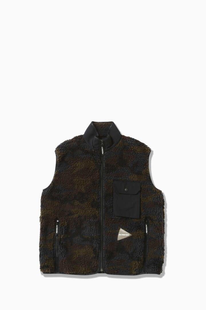 jacquard boa vest