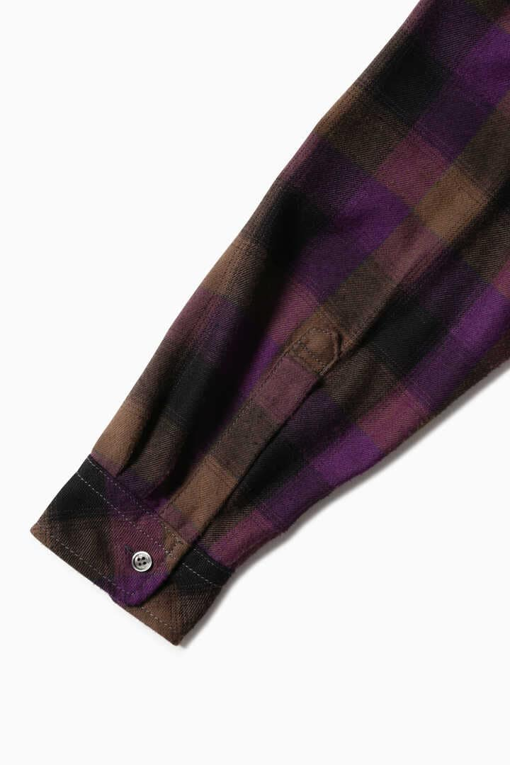 thermonel check pullover shirt (M)