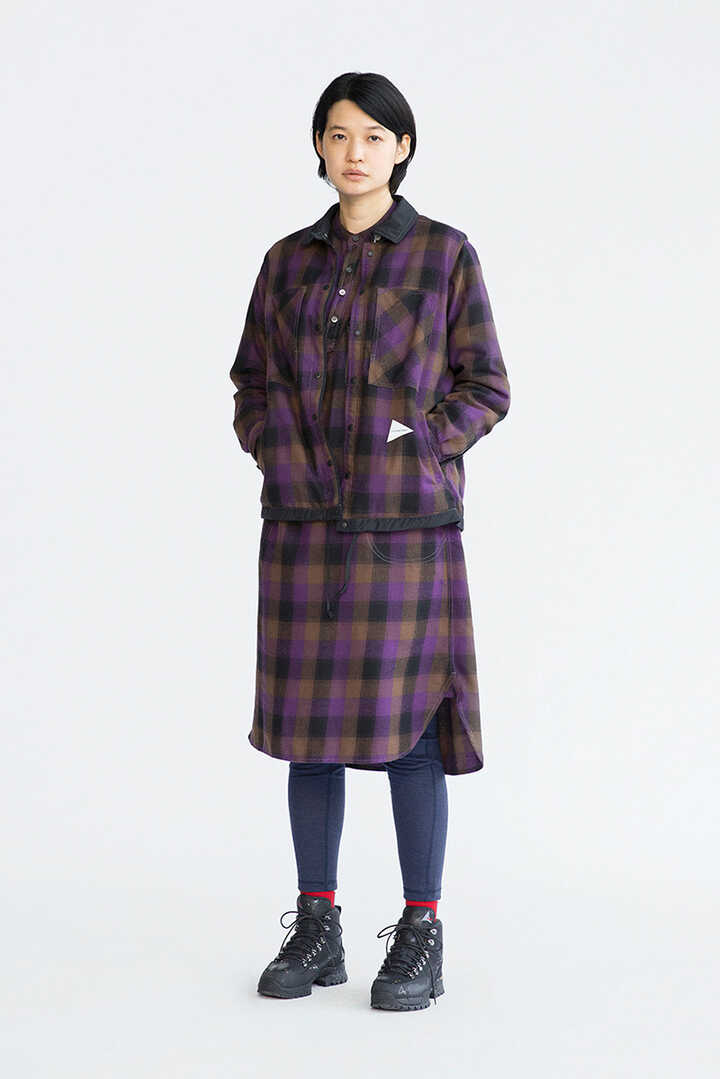 thermonel check tunic (W)