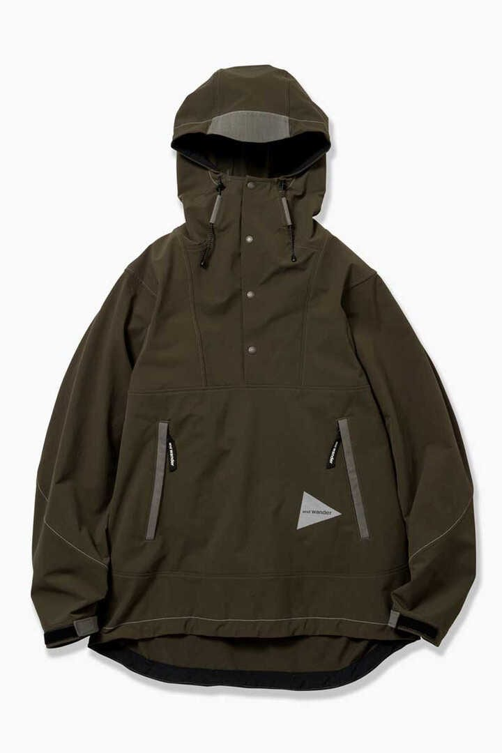 nylon double cloth hoodie