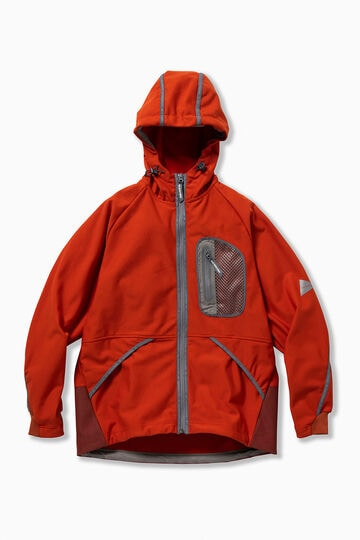 light fleece hoodie reflect