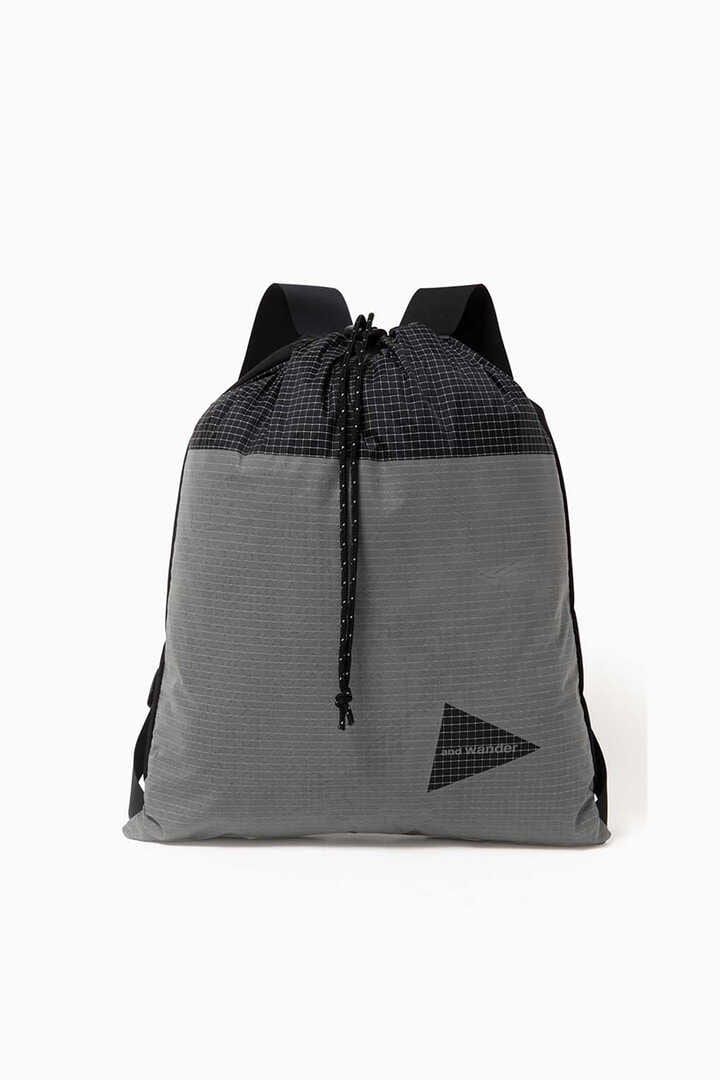 grid cloth nap sack