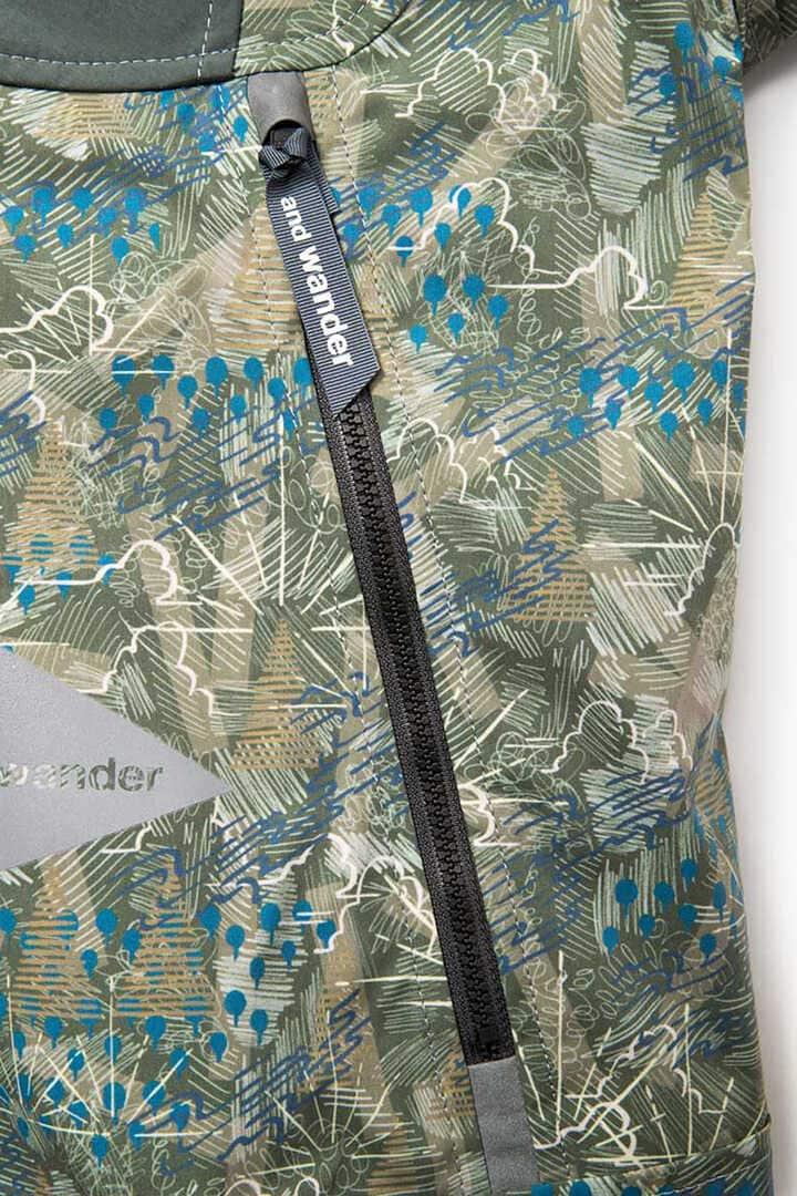 printed stretch jacket