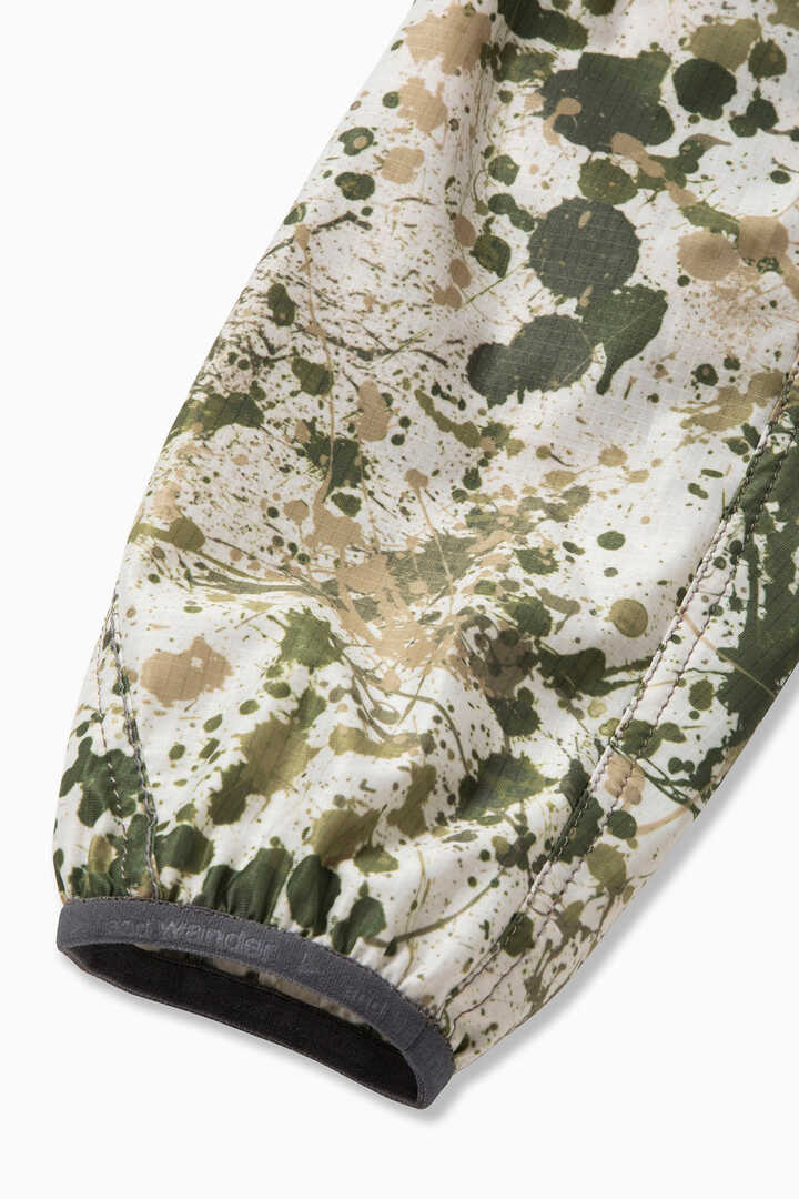 splatter print raschel rip jacket