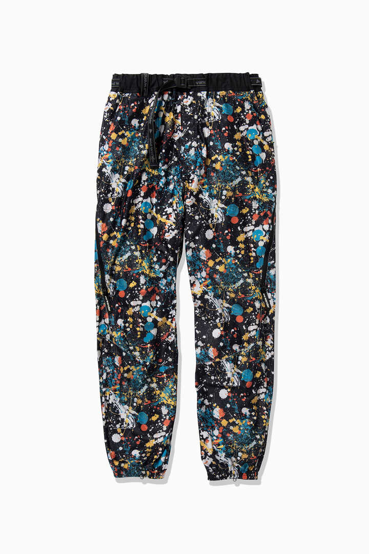 splatter print raschel rip pants