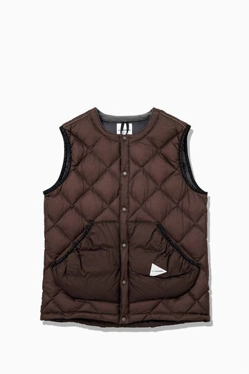 diamond stitch down vest