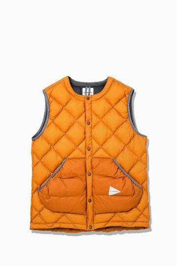 diamond stitch down vest