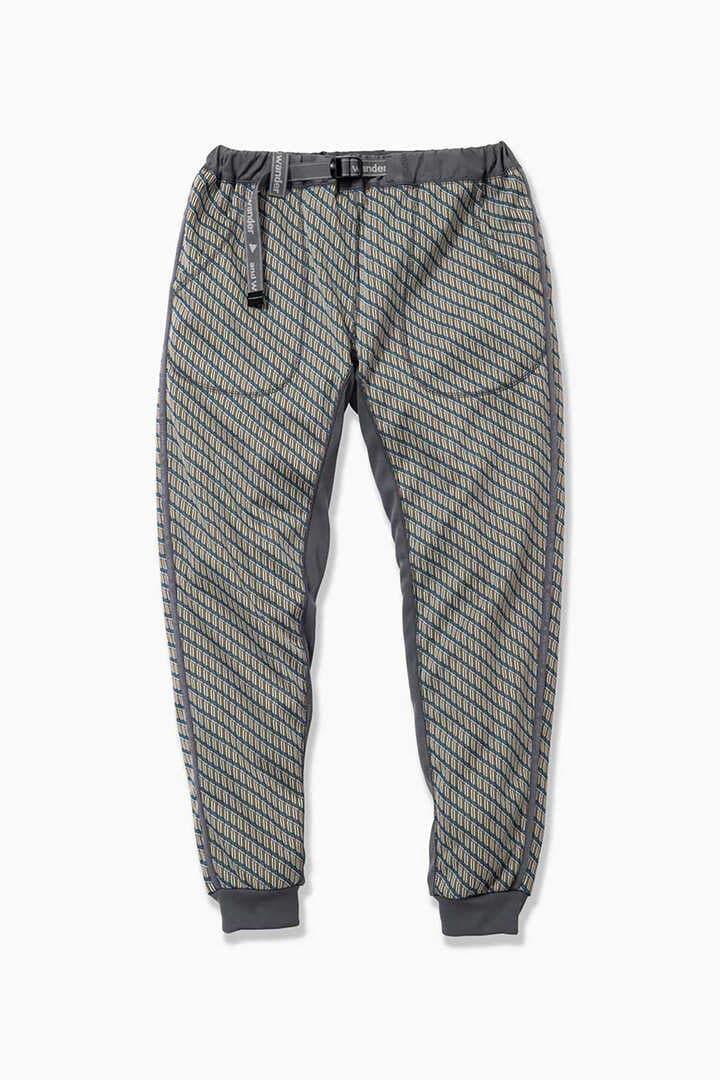 double jacquard knit long pants
