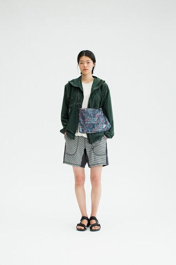double jacquard knit short pants
