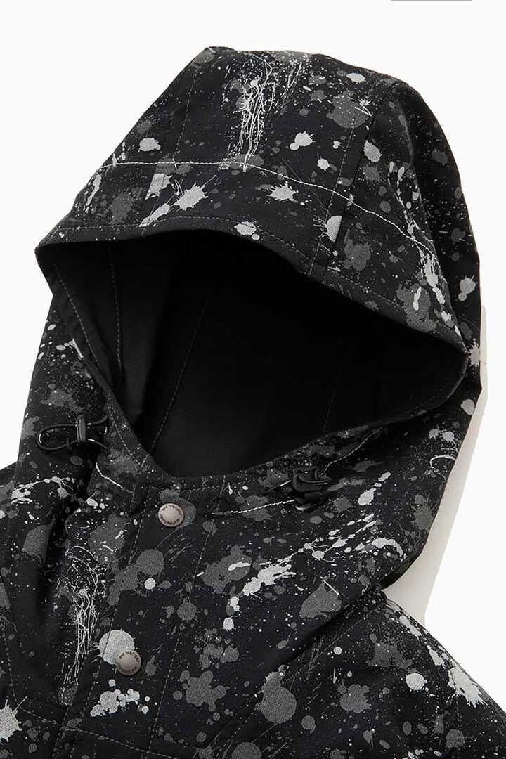 splatter print dry stretch hoodie