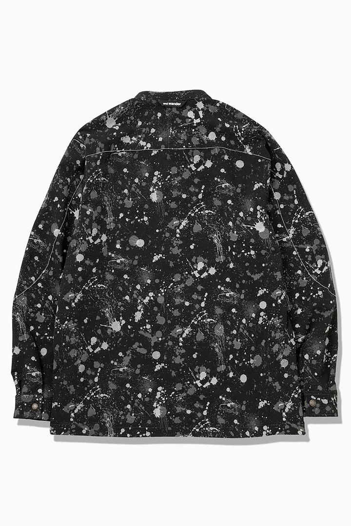 splatter print dry stretch shirt