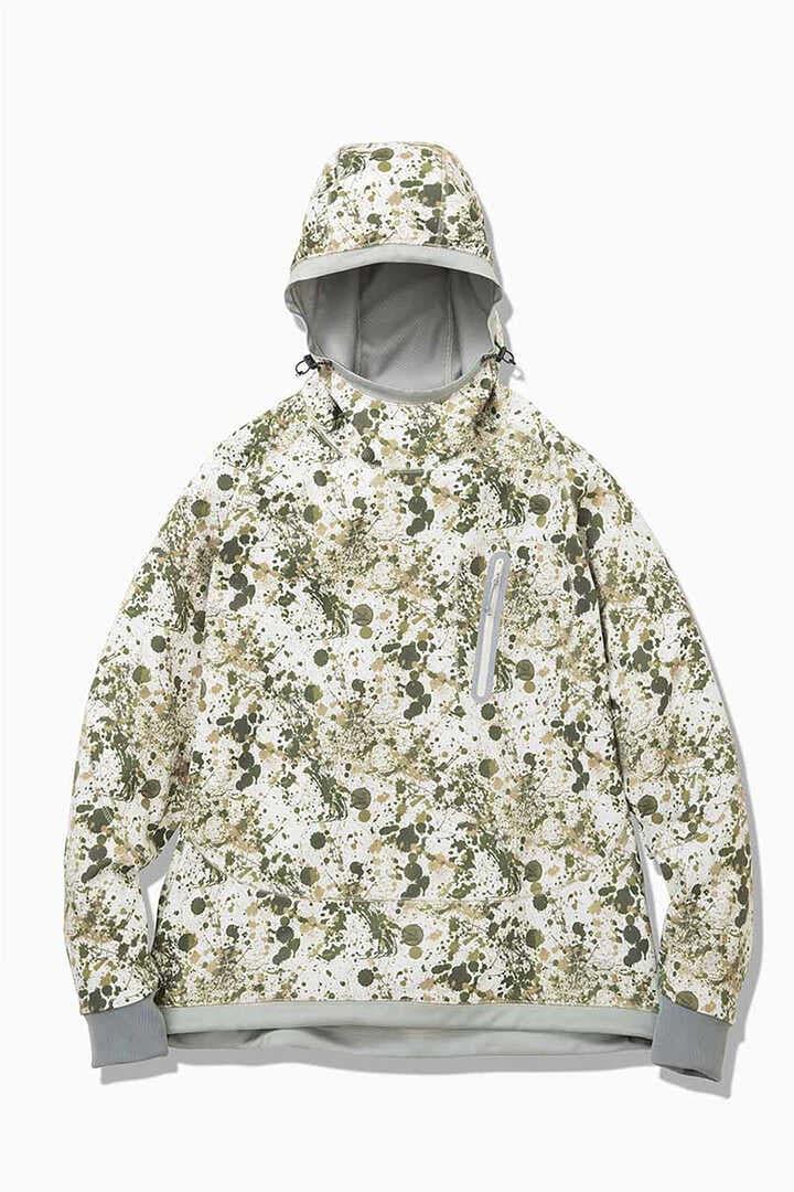 splatter print back nap raising hoodie