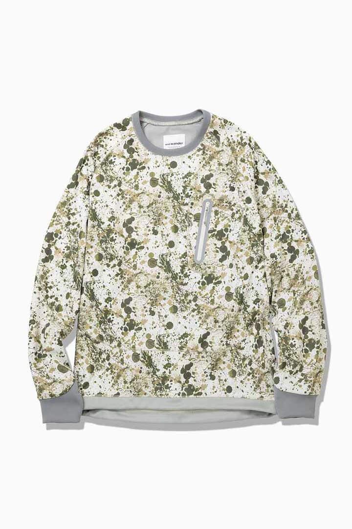 splatter print back nap raising pullover