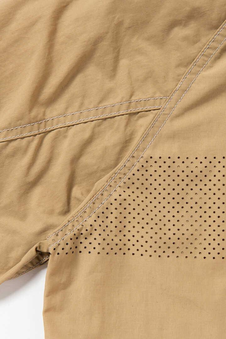 laser hole nylon taffeta hoodie