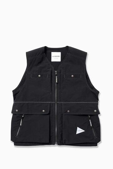 laser hole nylon taffeta vest