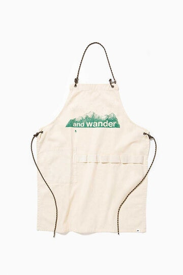 printed canvas apron