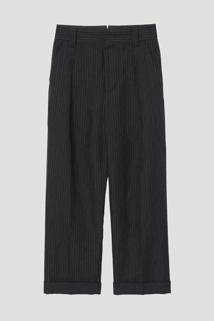 CHALK STRIPE LINEN WOOL1