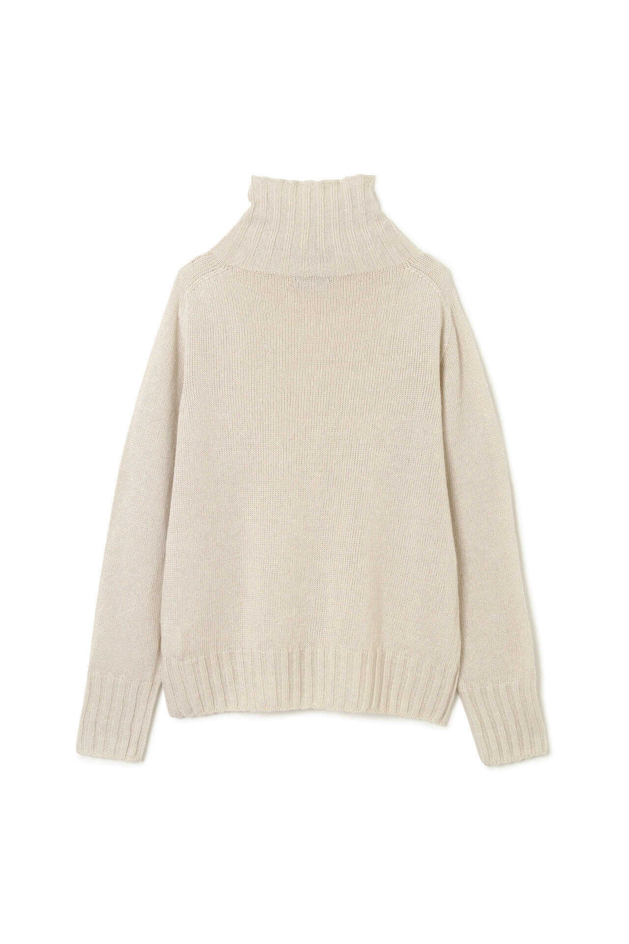 LINEN COTTON WIDE ROLL NECK7