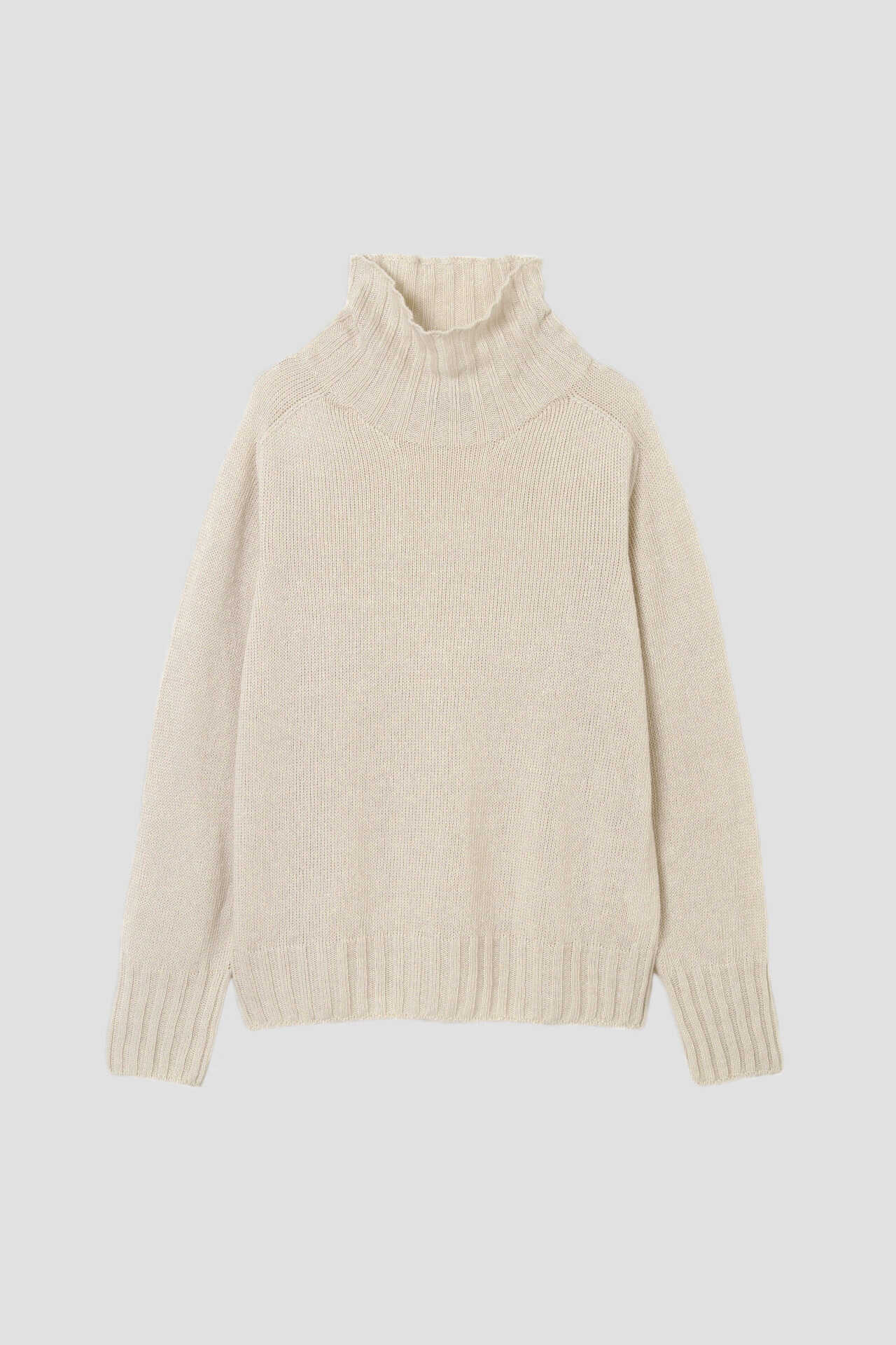 LINEN COTTON WIDE ROLL NECK5