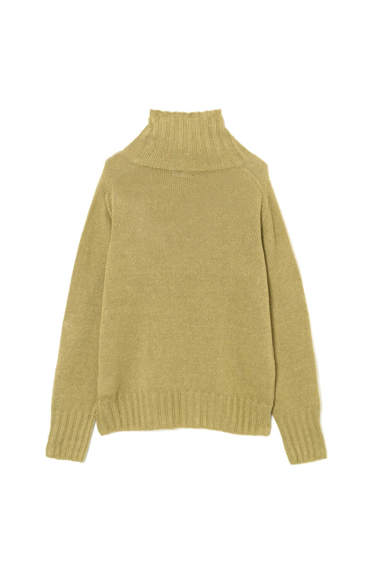 LINEN COTTON WIDE ROLL NECK2