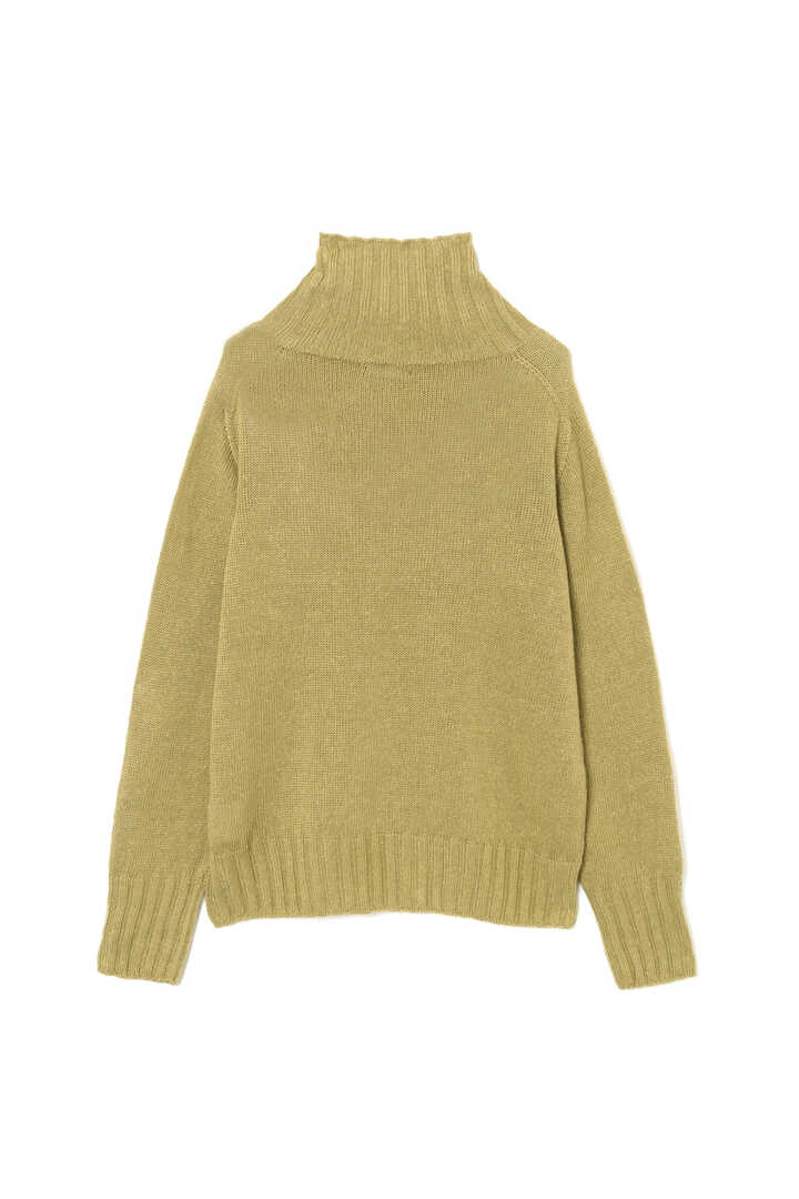 LINEN COTTON WIDE ROLL NECK11