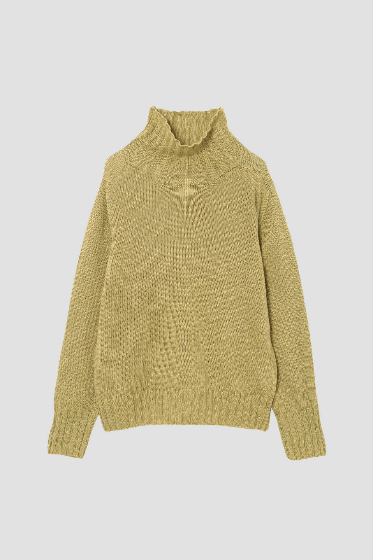 LINEN COTTON WIDE ROLL NECK1