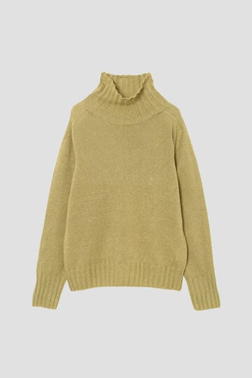 LINEN COTTON WIDE ROLL NECK_060