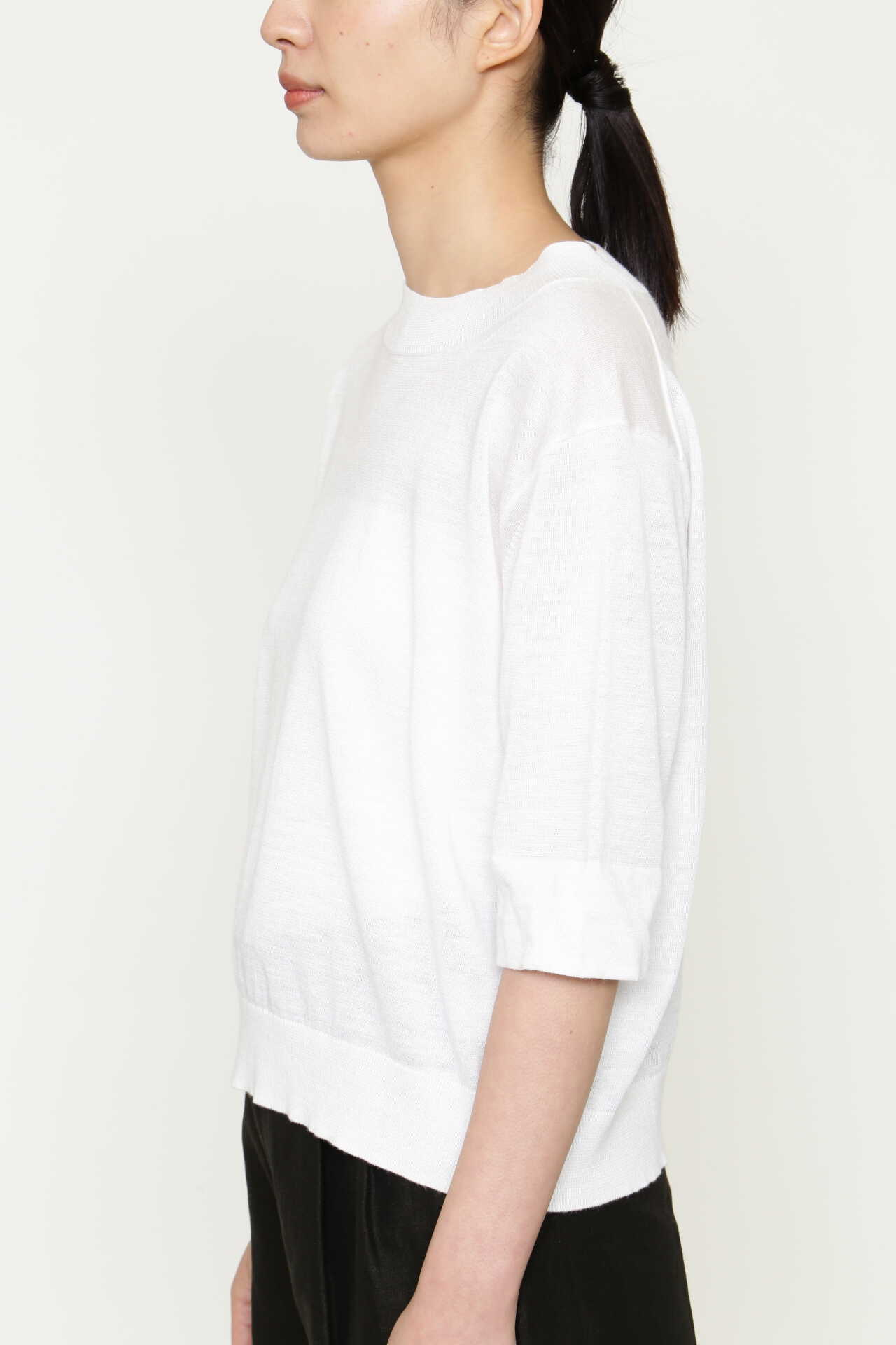 RAMIE COTTON DEEP RIB T SHIRT7