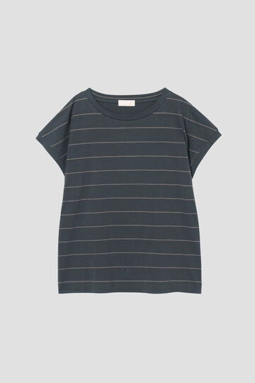 COTTON STRIPE SLOUCHY T SHIRT_023