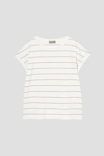 COTTON STRIPE SLOUCHY T SHIRT_030