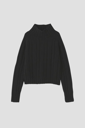 HICK NECK RIBBED JUMPER_010
