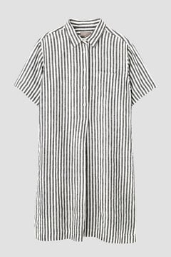 BLACK&WHITE SHIRTING LINEN