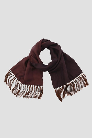 TWO COLOUR TASSEL SCARF