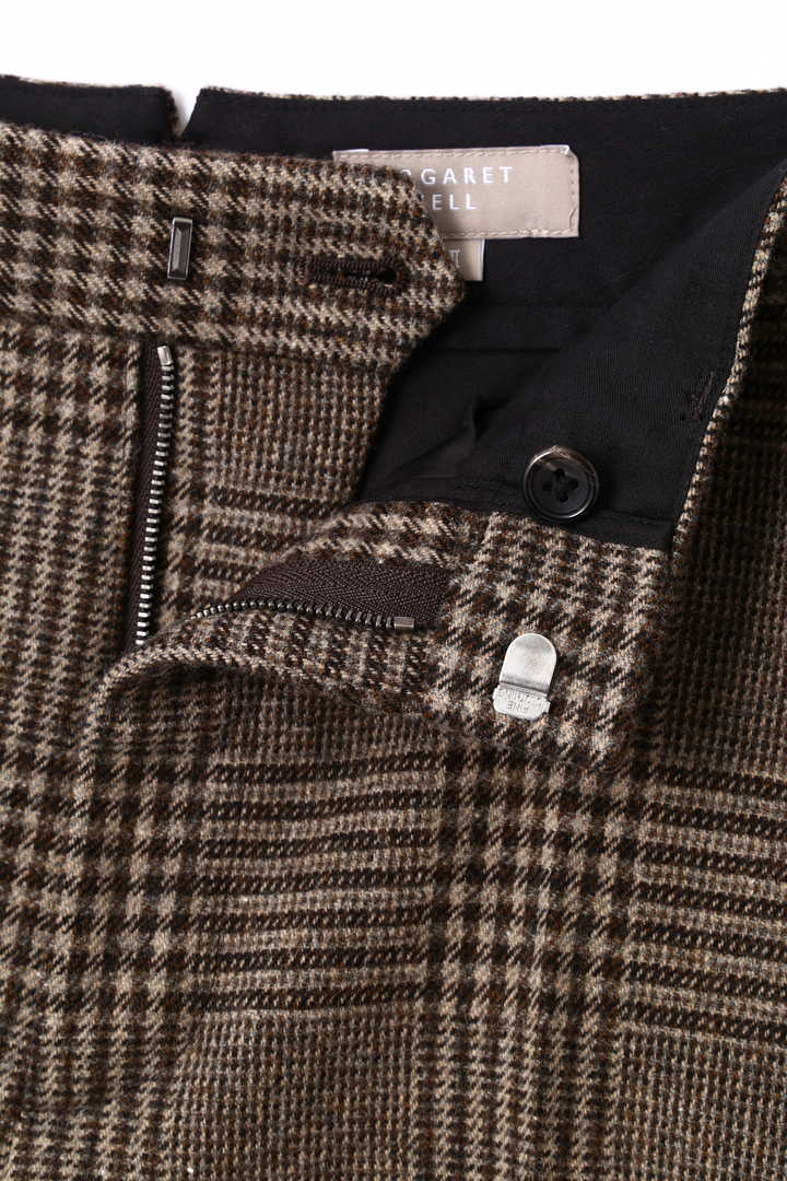 CHECK WOOL TROUSER