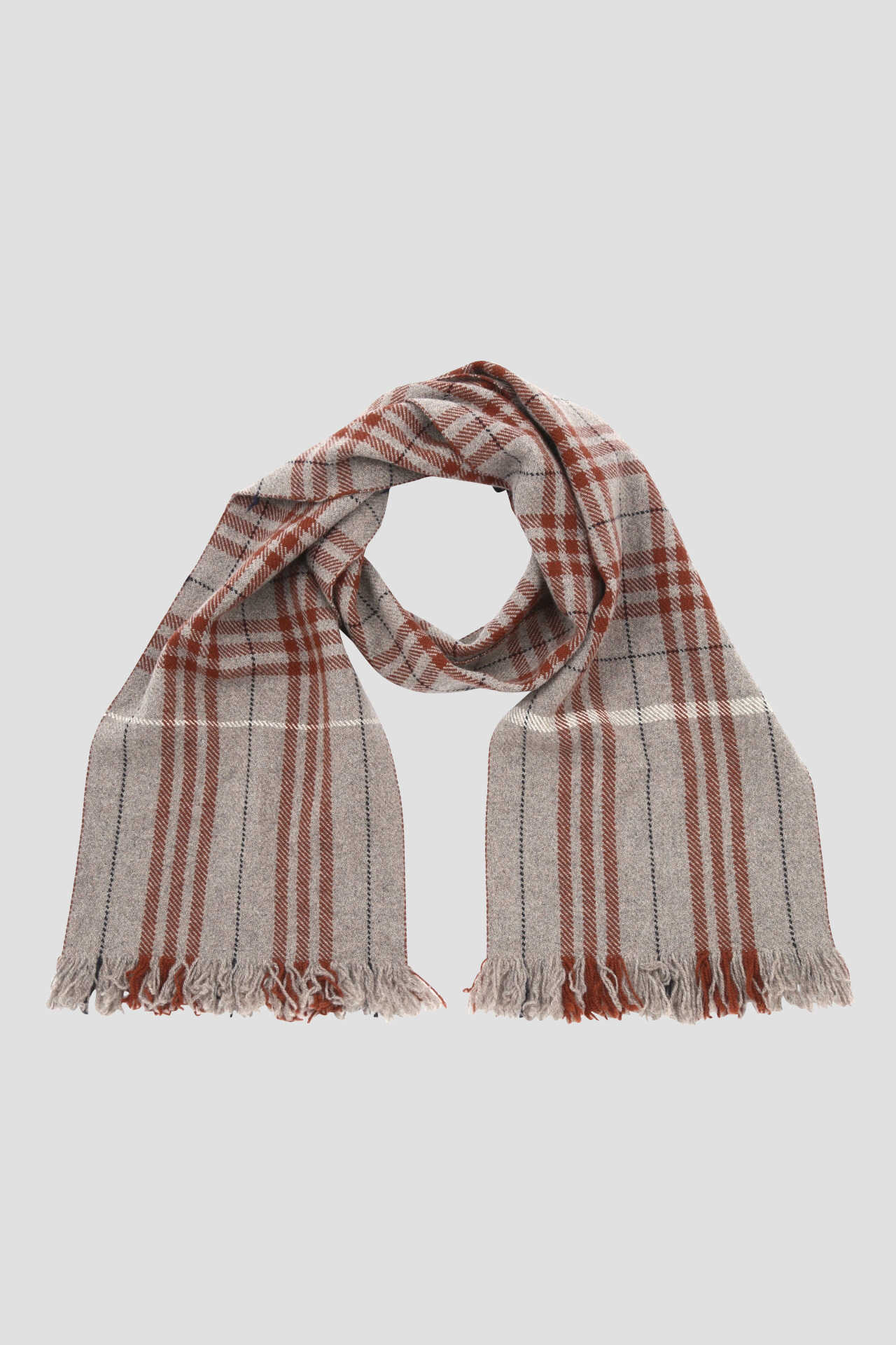 IRREGULAR CHECK SCARF