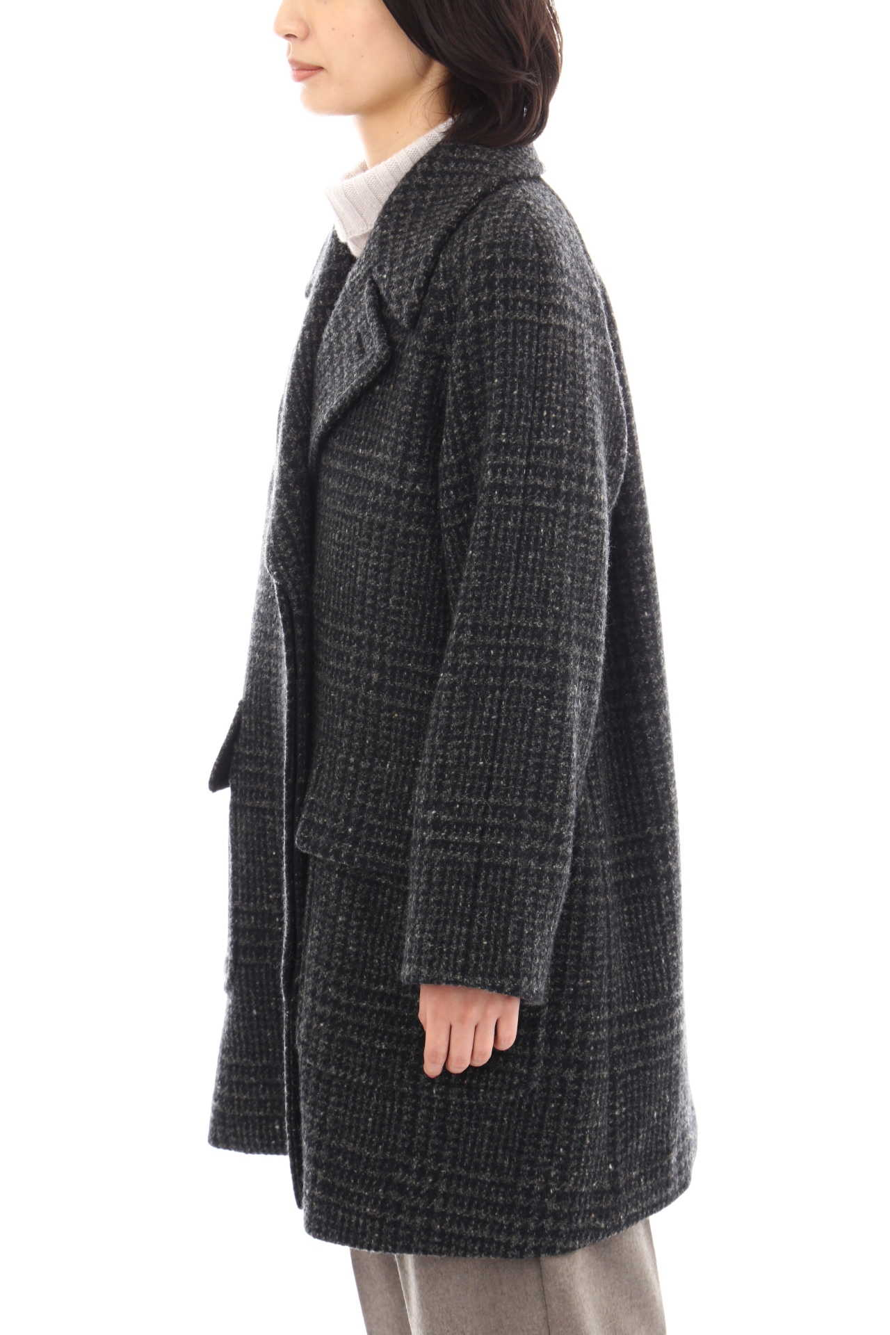 LARGE PRINCE OF WALES WOOL COATING7
