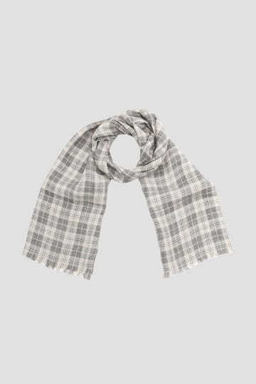 GREY CHECK LINEN SCARF_020