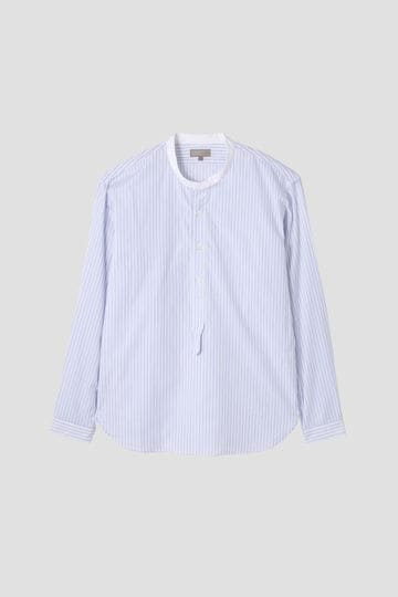 [別注]MARGARET HOWELL / BLUE STRIPE COTTON
